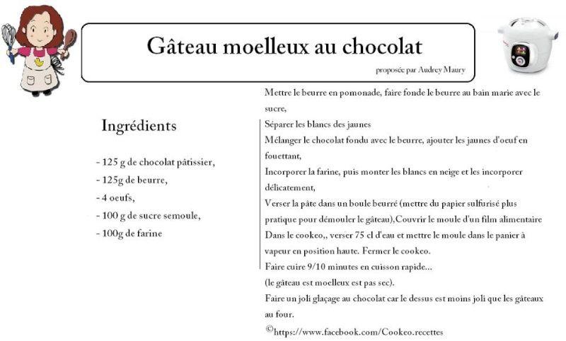 recette cookeo gateau chocolat – les recettes populaires blogue le
