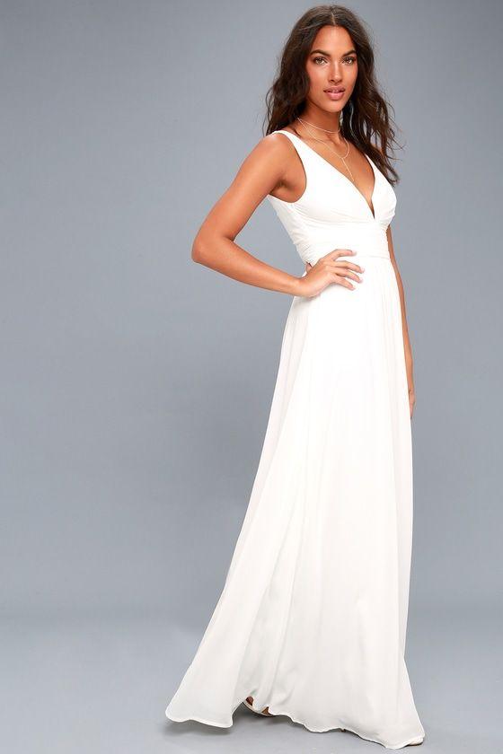 Leading Role White Maxi Dress | White maxi dresses, Bodice and Wedding