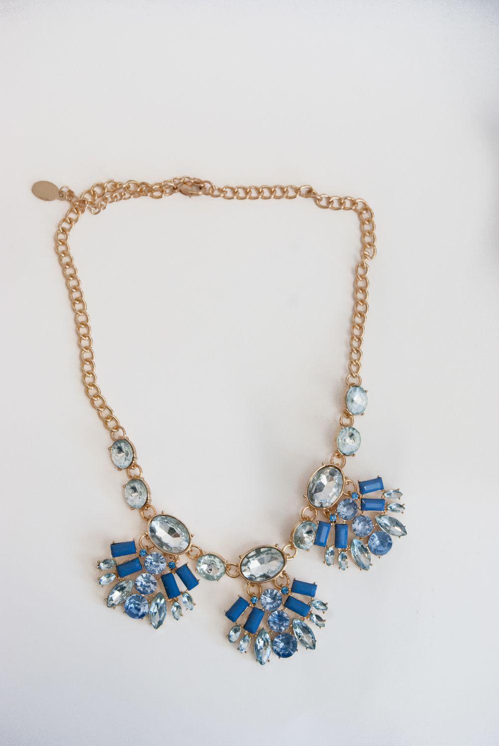 Jack E Ohs NYC Blue Gold Sparkler Necklace #kulasweet