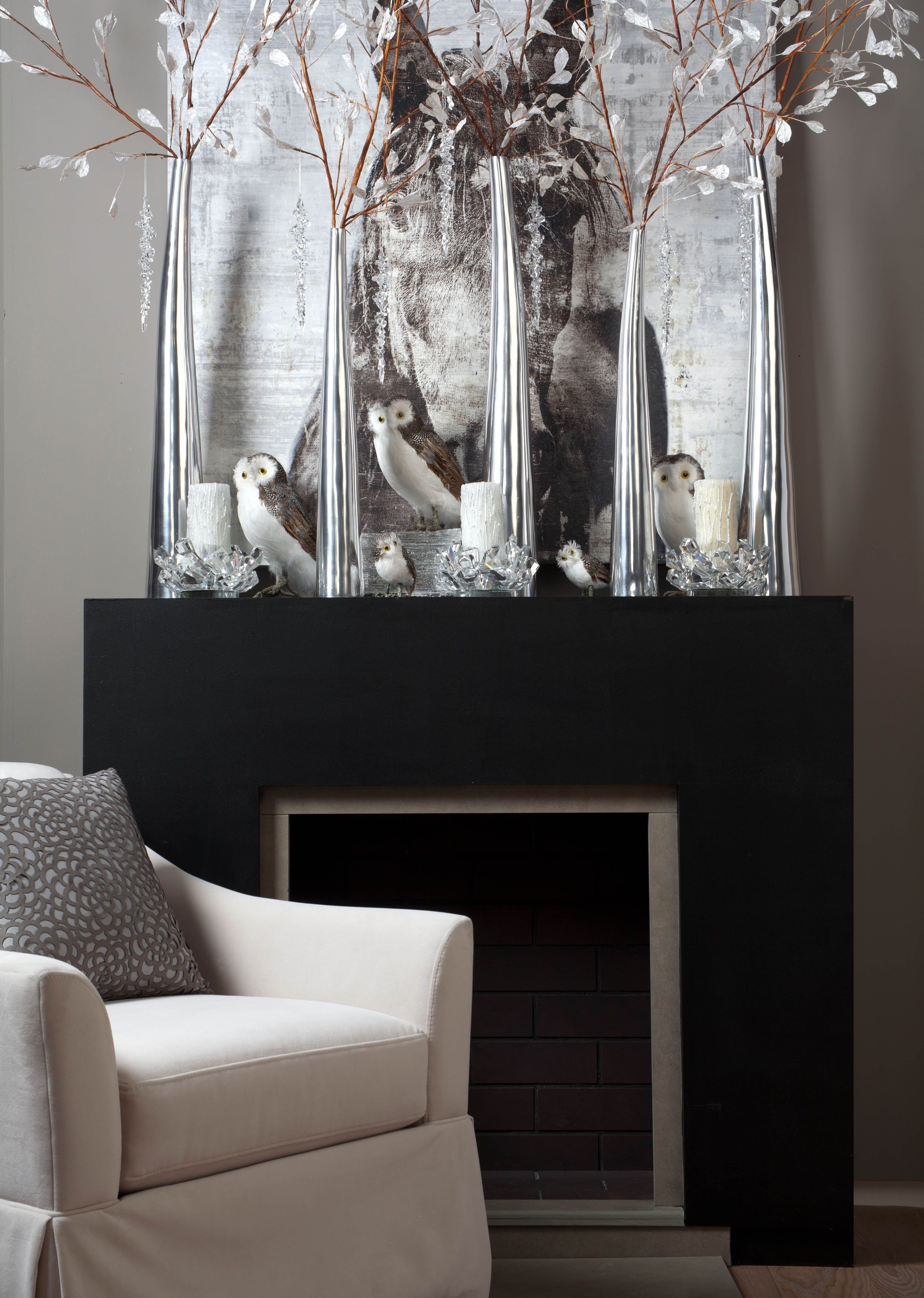 A tundrainspired mantle with wildlife embellishments and