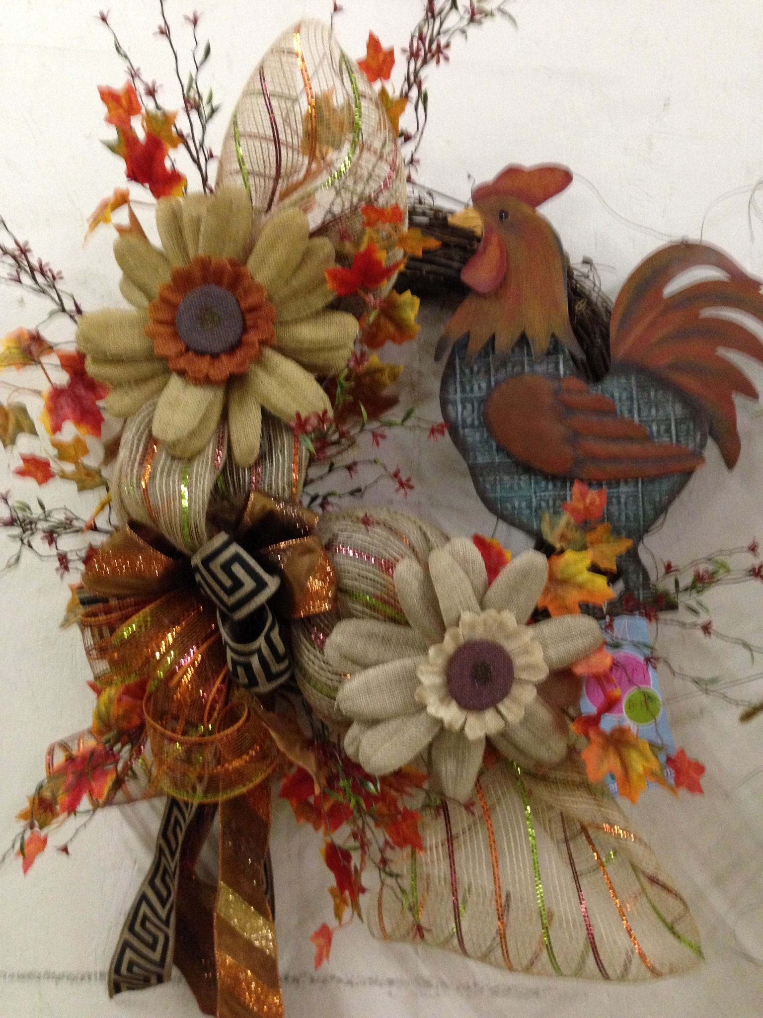 Fall Rooster Wreath
