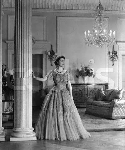 Princess Elizabeth At Drawing Room Of The Clarence House