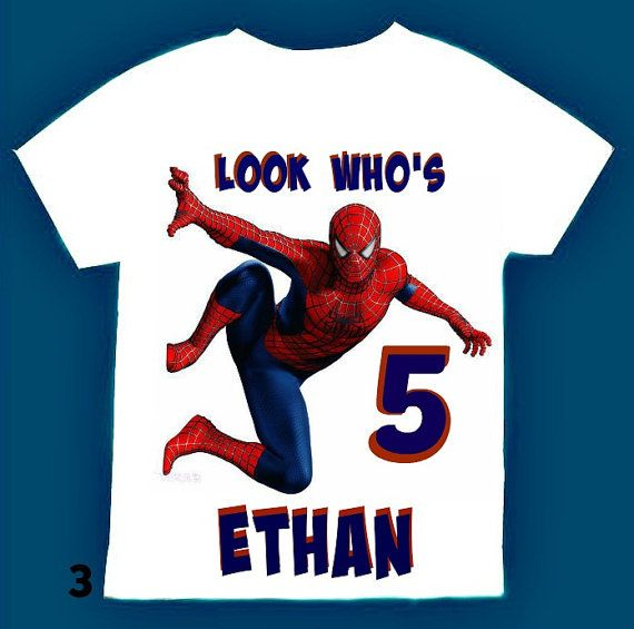198e4877 Spiderman Birthday Boy Shirt Personalized with by FantasyKidsParty ...