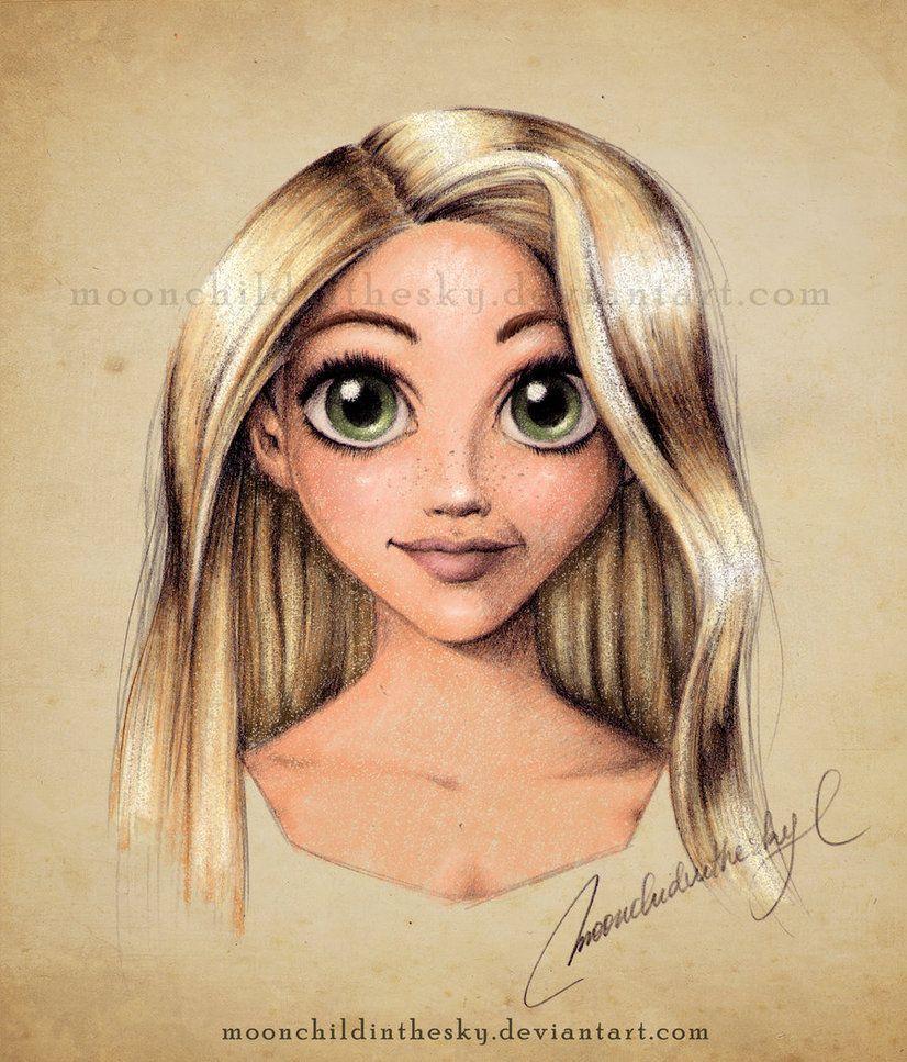 Rapunzel Portrait.