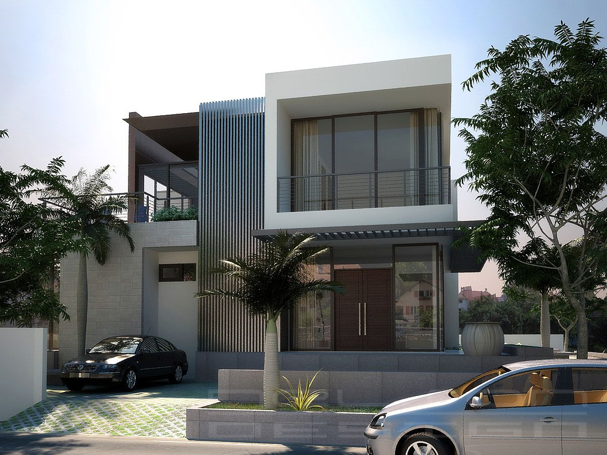 Modern House Minimalist Design small neutral color with interior and exterior modern home design