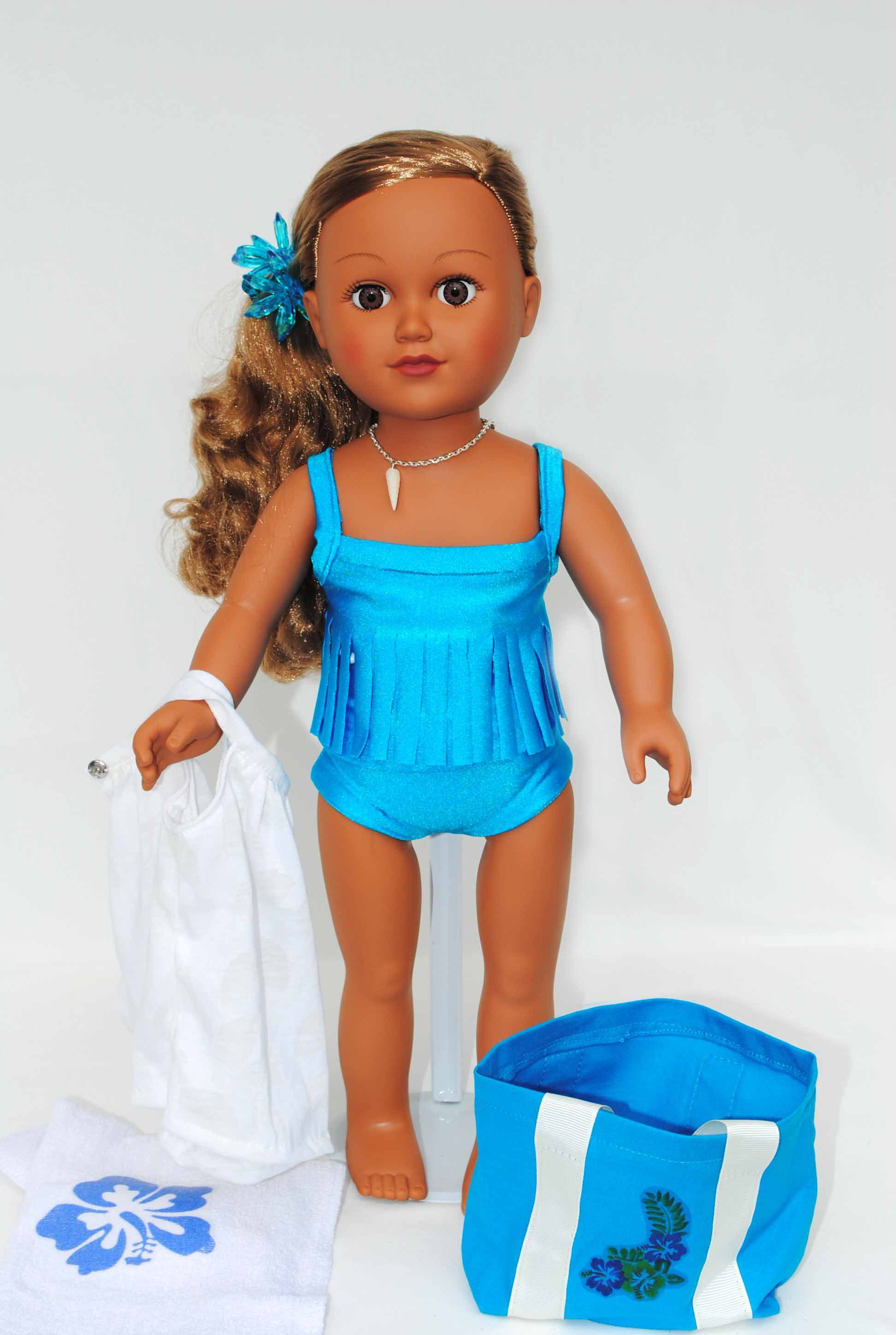 "Hot Handmade Accessories Fits 18/"" Inch American Girl Doll Clothes Swimsuit set"