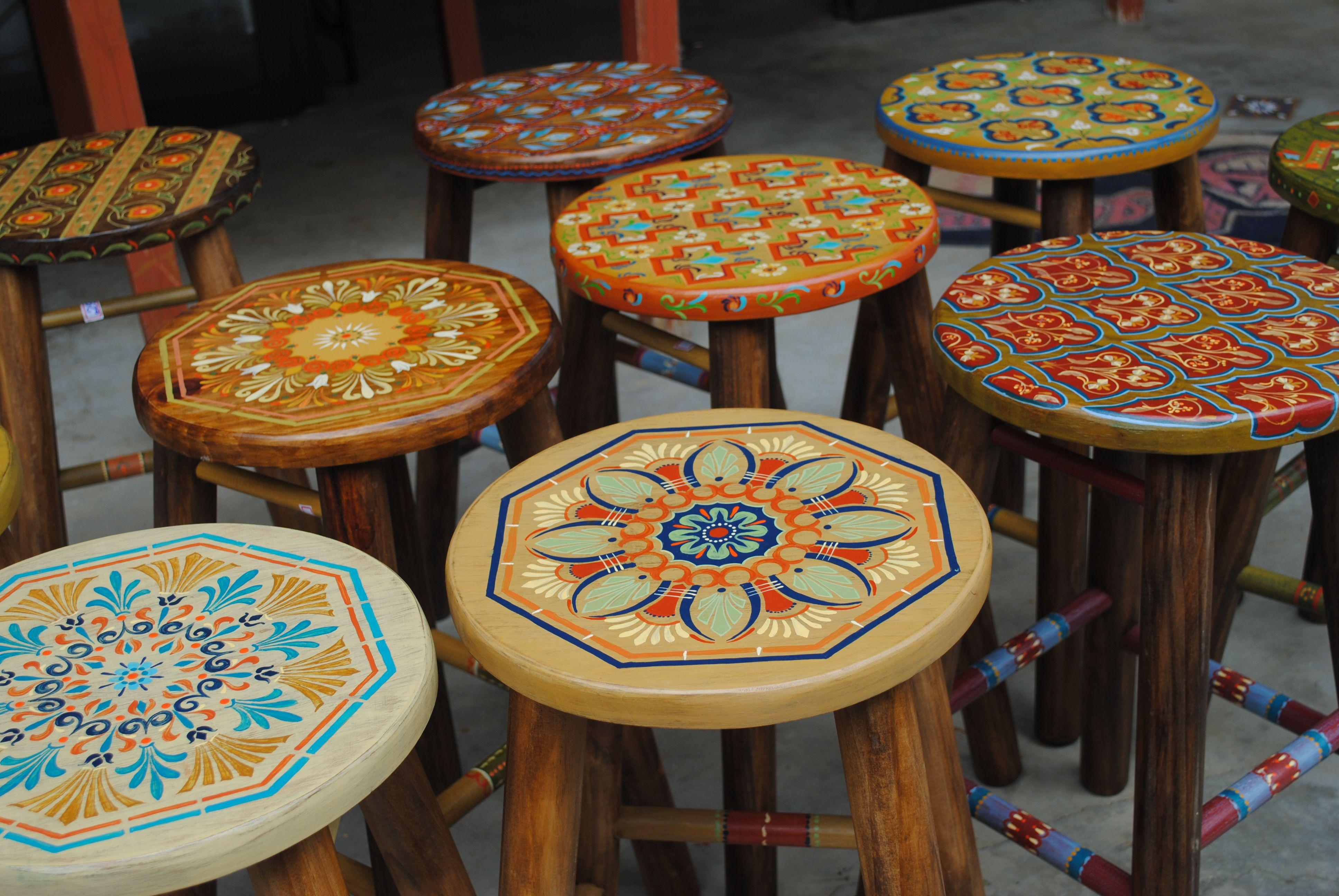 artes pinturas em bancos de madeira - Pesquisa Google