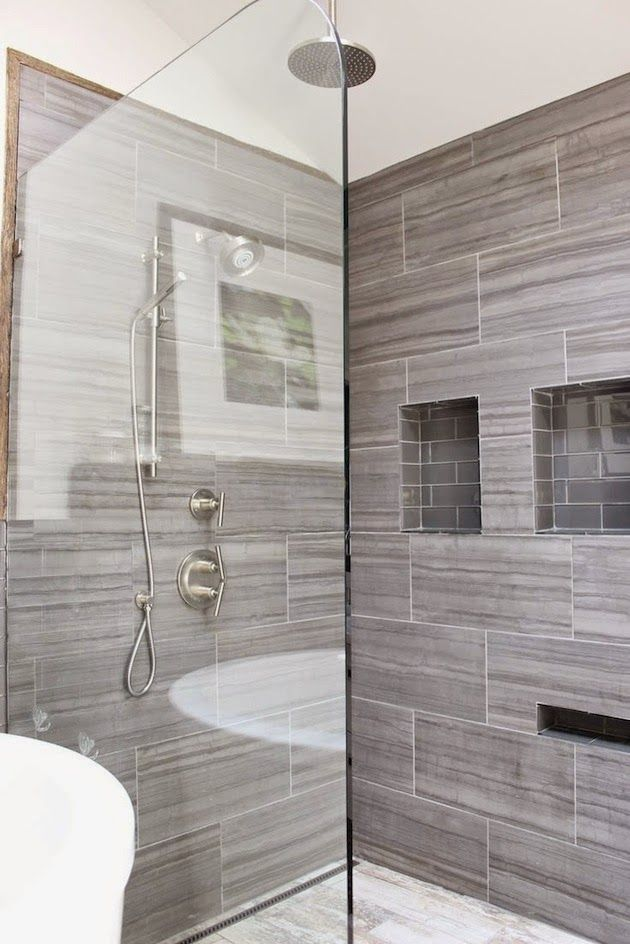 charming shower niche designs. Gray tile shower with niche for shaving legs  Sherry Hart Designs