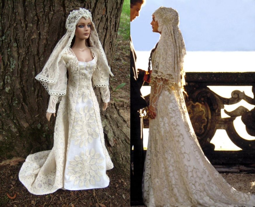Padme Skywalker Wedding Dress For Tonner Dolls From Star Wars Attack Of