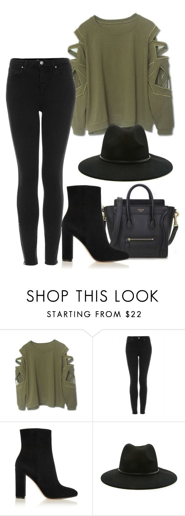 """Untitled #1219"" by artiola-fejza ❤ liked on Polyvore featuring Topshop, Gianvito Rossi and Forever 21"