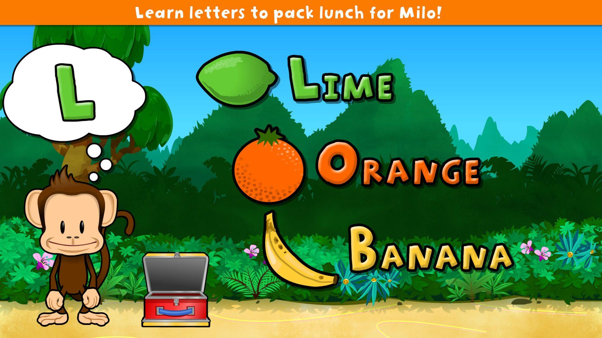 Monkey preschool lunchbox puzzleeducationiosfamily