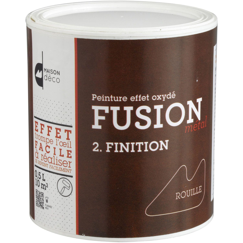 Peinture Decorative Fusion Finition Metal Maison Deco Effet Rouille 0 5 L Deco Peinture Deco Industrielle Et Ambiance Deco