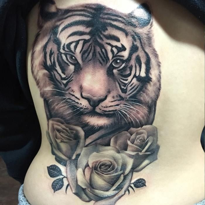 Chronic Ink Tattoo Toronto Tattoo Tiger And Rose Tattoo Done By