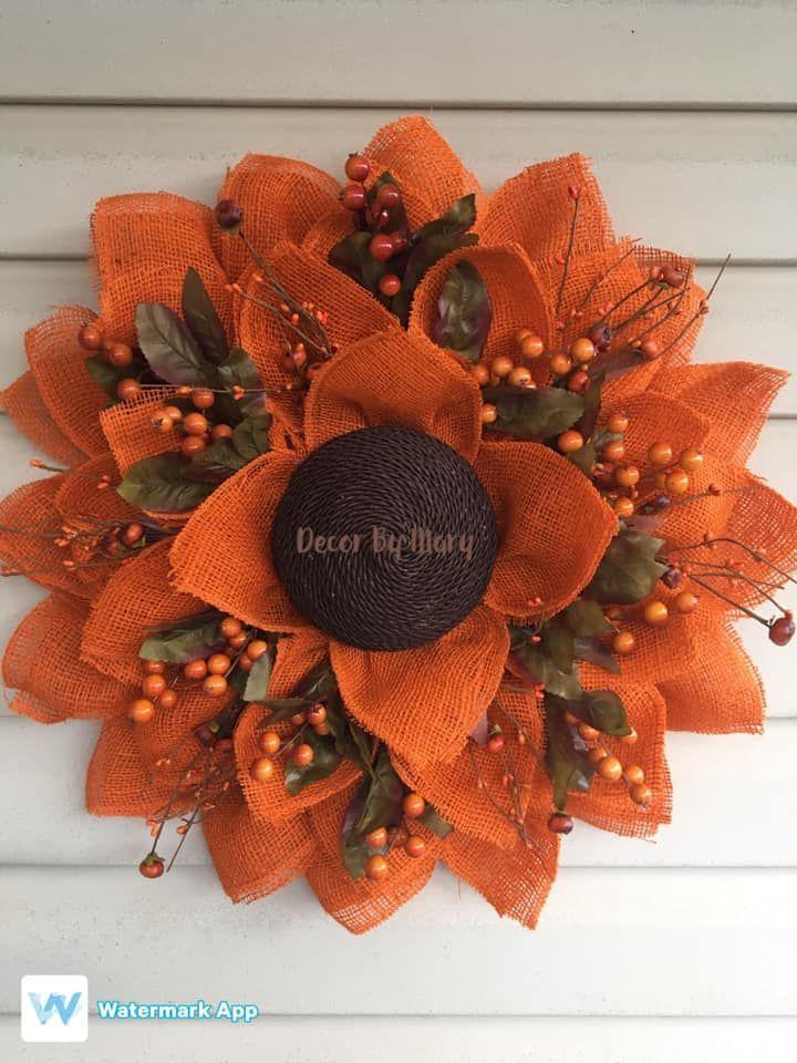 Photo of DIY Herbst Sonnenblumen Dekor – Fall – Wreath