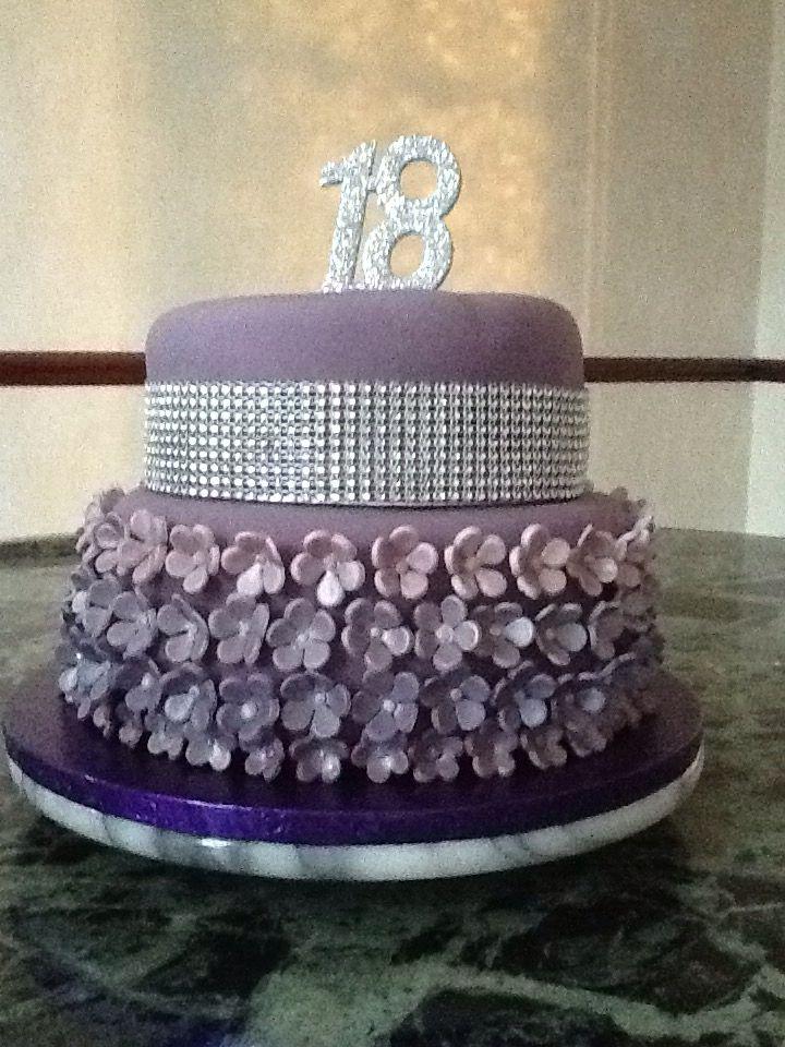 18th purple, sparkly birthday cake   Amazing cakes, Cake ...