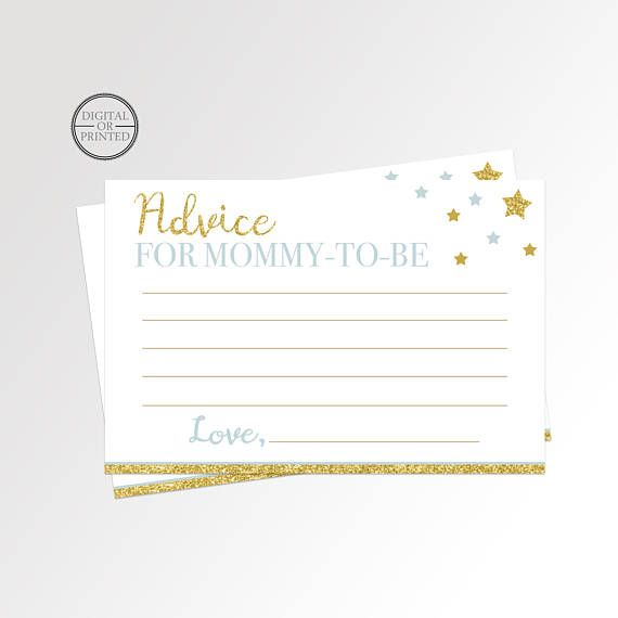 picture regarding Mommy Advice Cards Printable titled Twinkle Tiny Star Guidance Playing cards Twinkle Youngster Shower