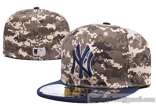 7cfdd5b5c825f MLB New York Yankees Fitted Caps Hats MLB Baseball Caps Camo ...