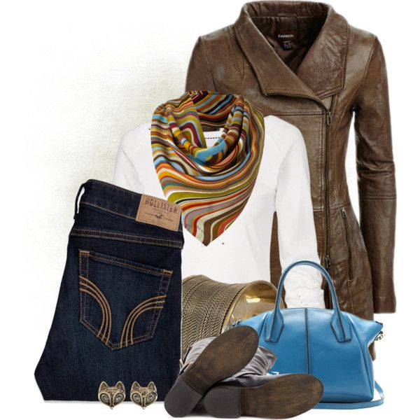 Swirly Scarf, created by colierollers on Polyvore