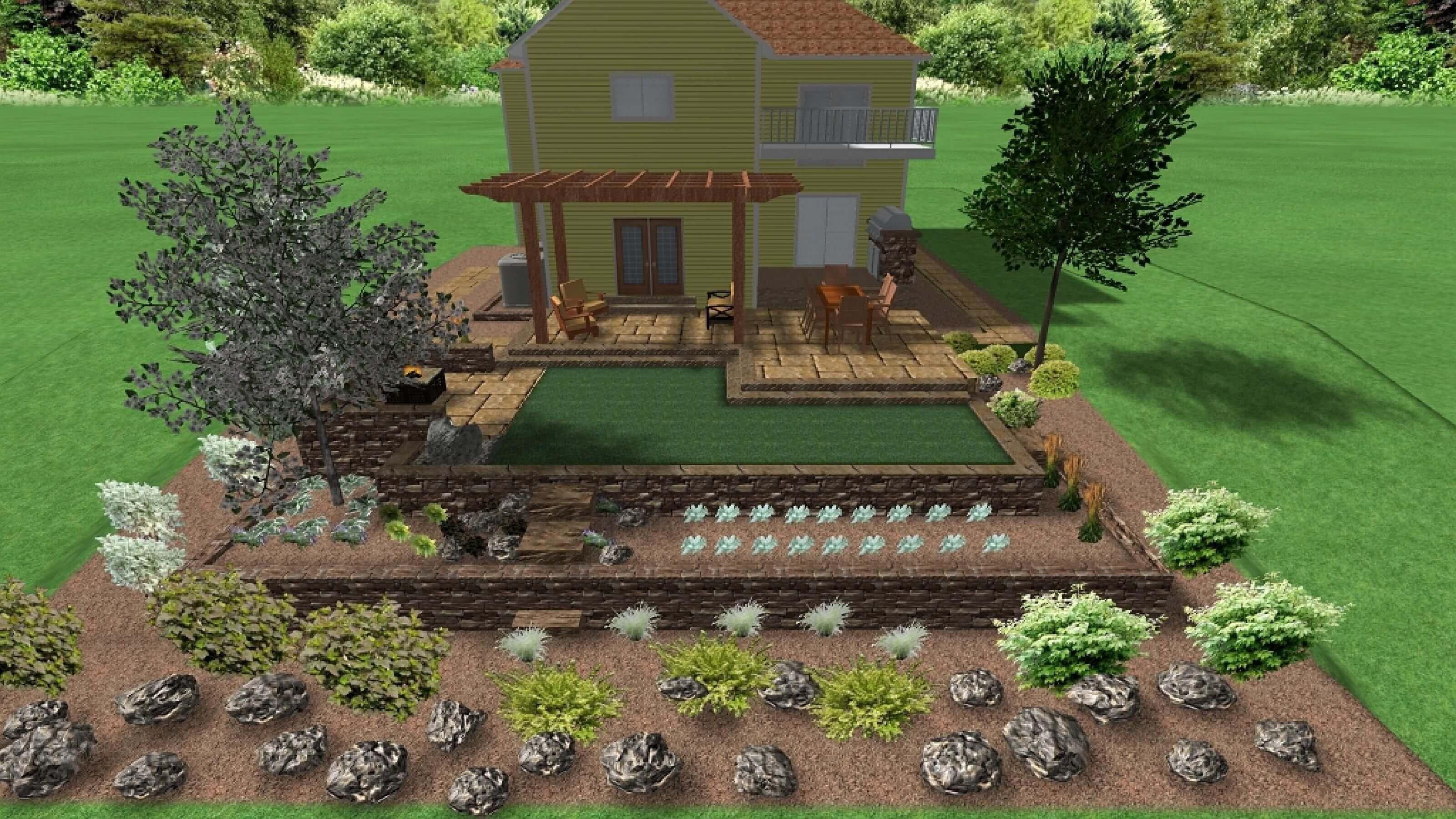 10D Landscape Design example back yard-Back yard landscape design