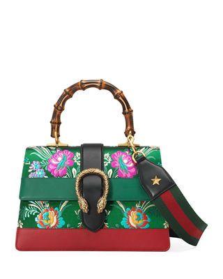 37475216ac8d Gucci Dionysus Medium Jacquard Top-Handle Satchel Bag in 2019 ...