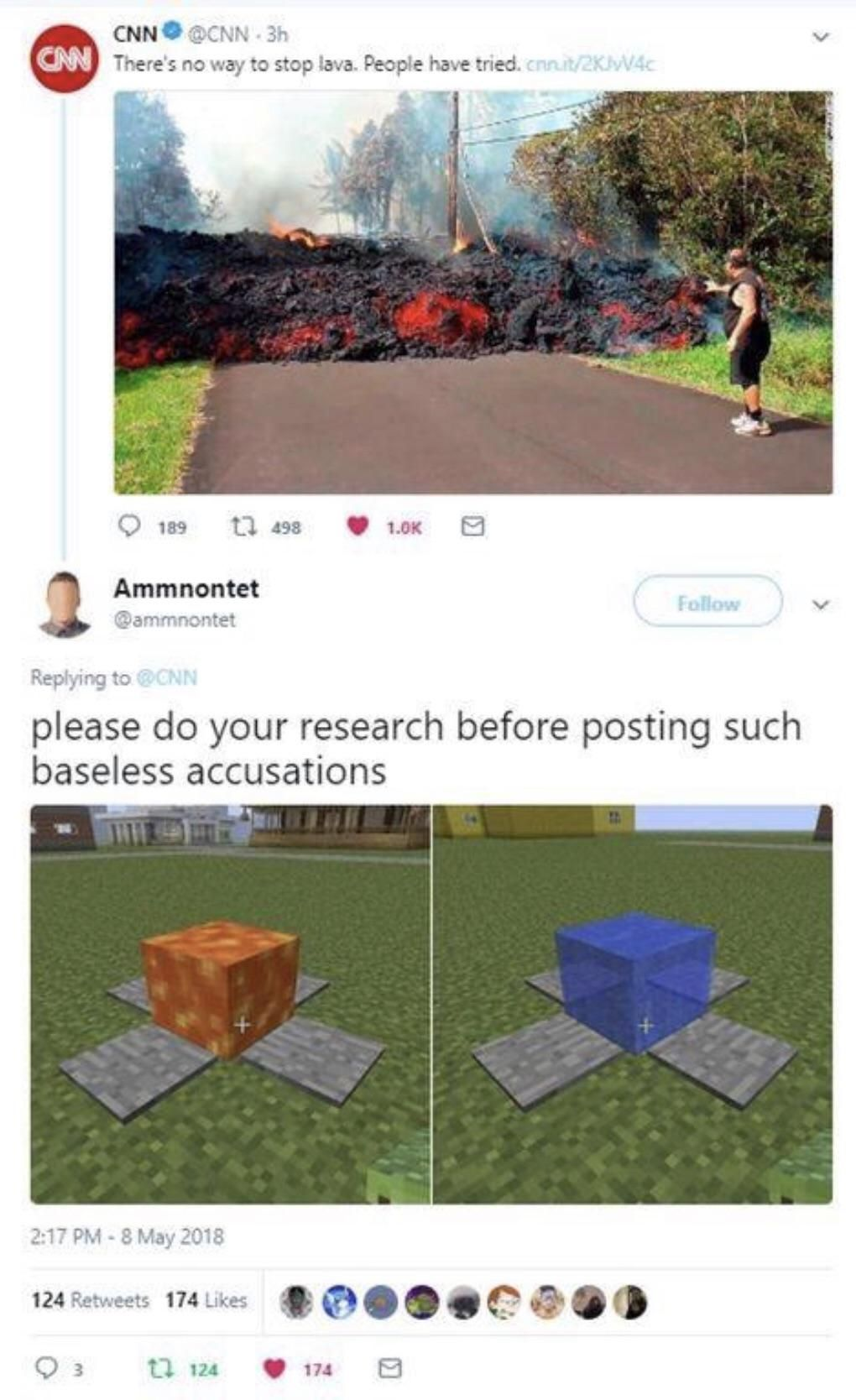 How to stop lava Minecraft funny, Minecraft memes