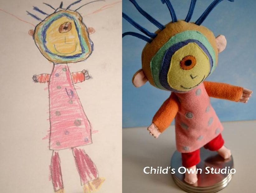Brittany Stuffed Animal, Artist Turns Children S Drawings Into Stuffed Toys Childrens Drawings Drawing For Kids Art For Kids
