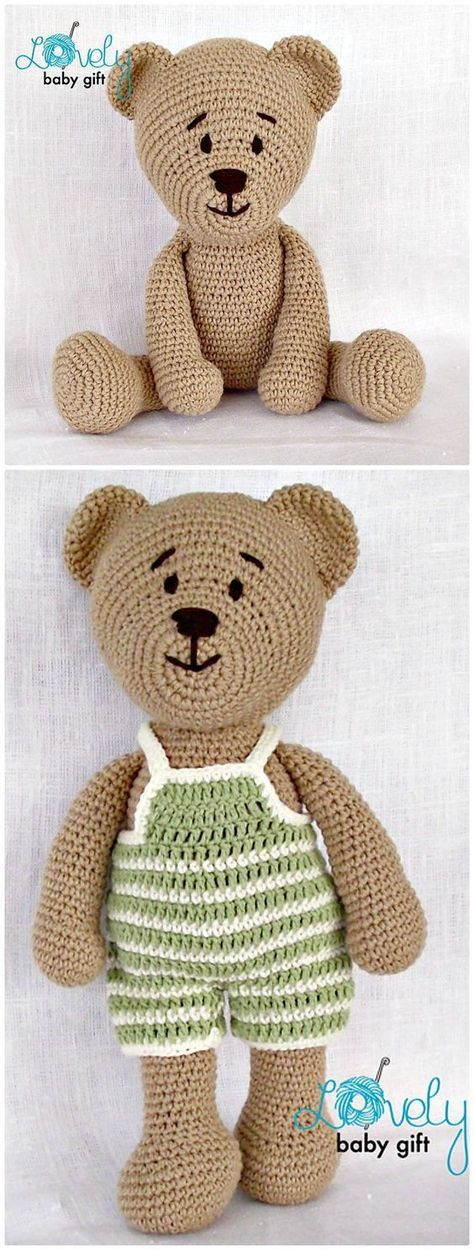 50 Free Crochet Teddy Bear Patterns #crochetbear