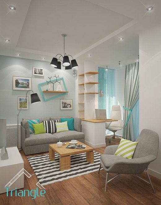 Квартира в Скандинавском стиле Гостиная Сканди Pinterest