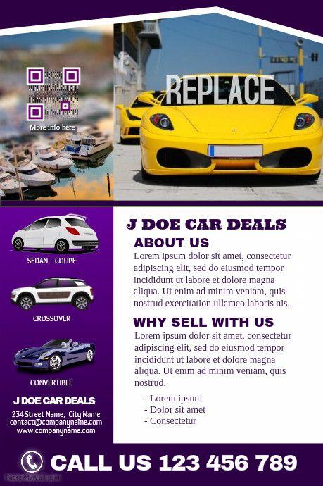 Car dealership brochure http\/\/wwwpostermywall\/indexphp - car ad template
