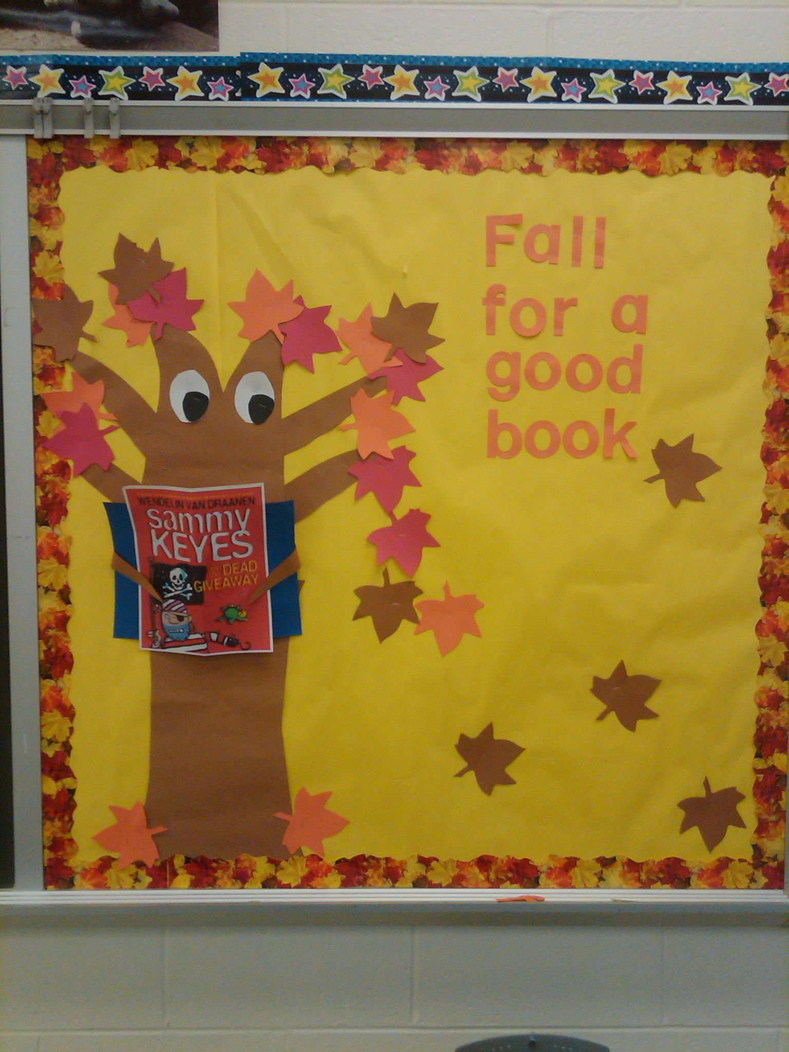 Fall for a Good Book. I think we\u0027d put book titles on the & Fall for a Good Book. I think we\u0027d put book titles on the leaves ...