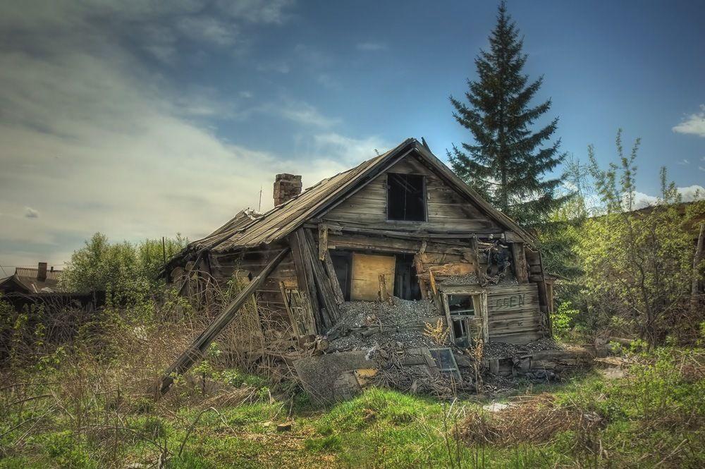 фото разрушенных домов в деревне несильно