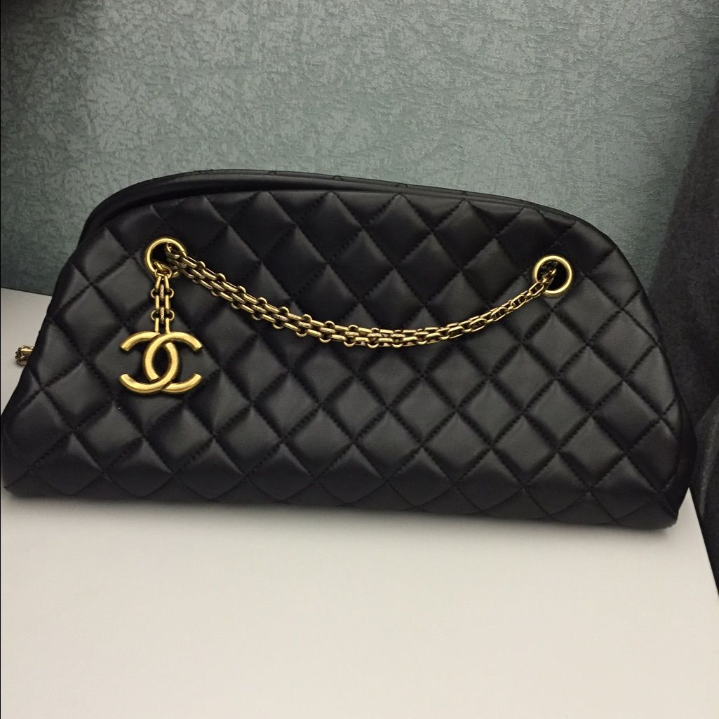 ff01a831c4b9 Chanel Lambskin Just Mademoiselle Bowling Bag | Purses | Chanel ...