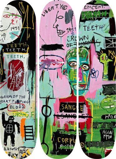 Paddle8: In Italian Skate Decks (Set of Three) - After Jean-Michel Basquiat