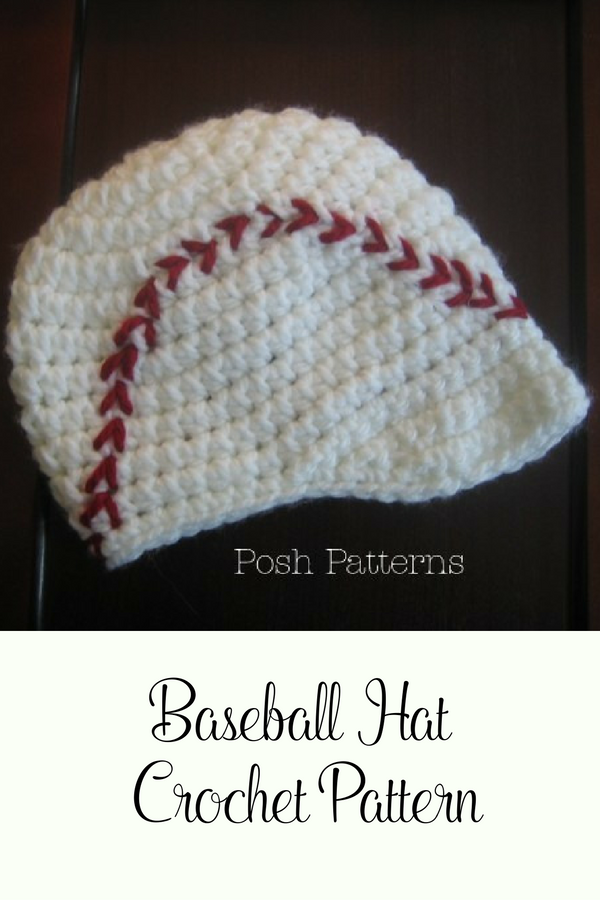 Crochet Pattern This Crochet Baseball Visor Hat Is Totally Cute