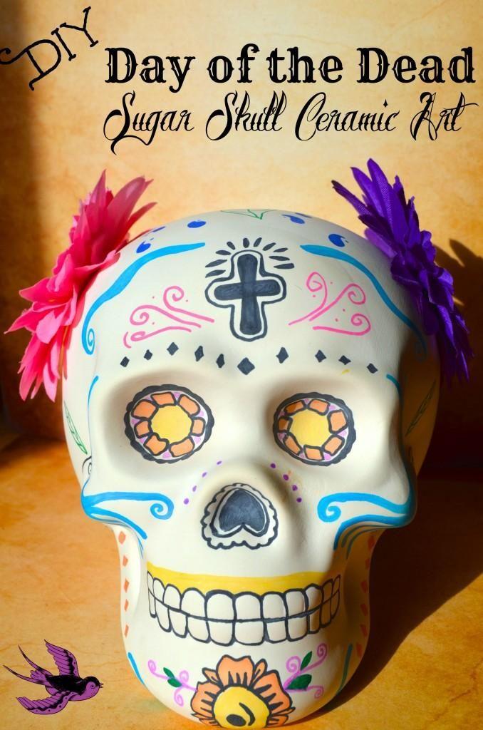 Diy Day Of The Dead Sugar Skull Ceramic Art Decor Diy Day Of The Dead Sugar Skull Crafts