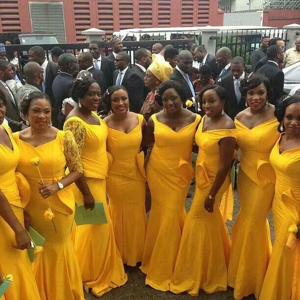 Pin By Gynger Fyer On Wedding Themes Things Mermaid Bridesmaid Dresses Nigerian Bridesmaid Maid Of Honour Dresses