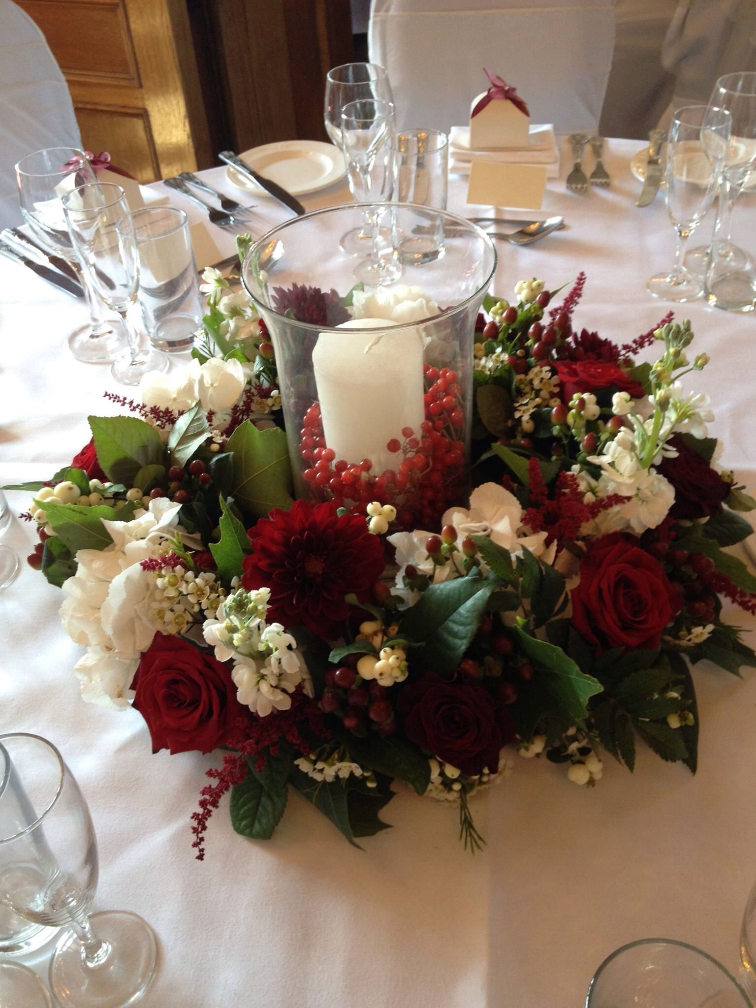 A Winter Wedding Table Arrangement Christmas