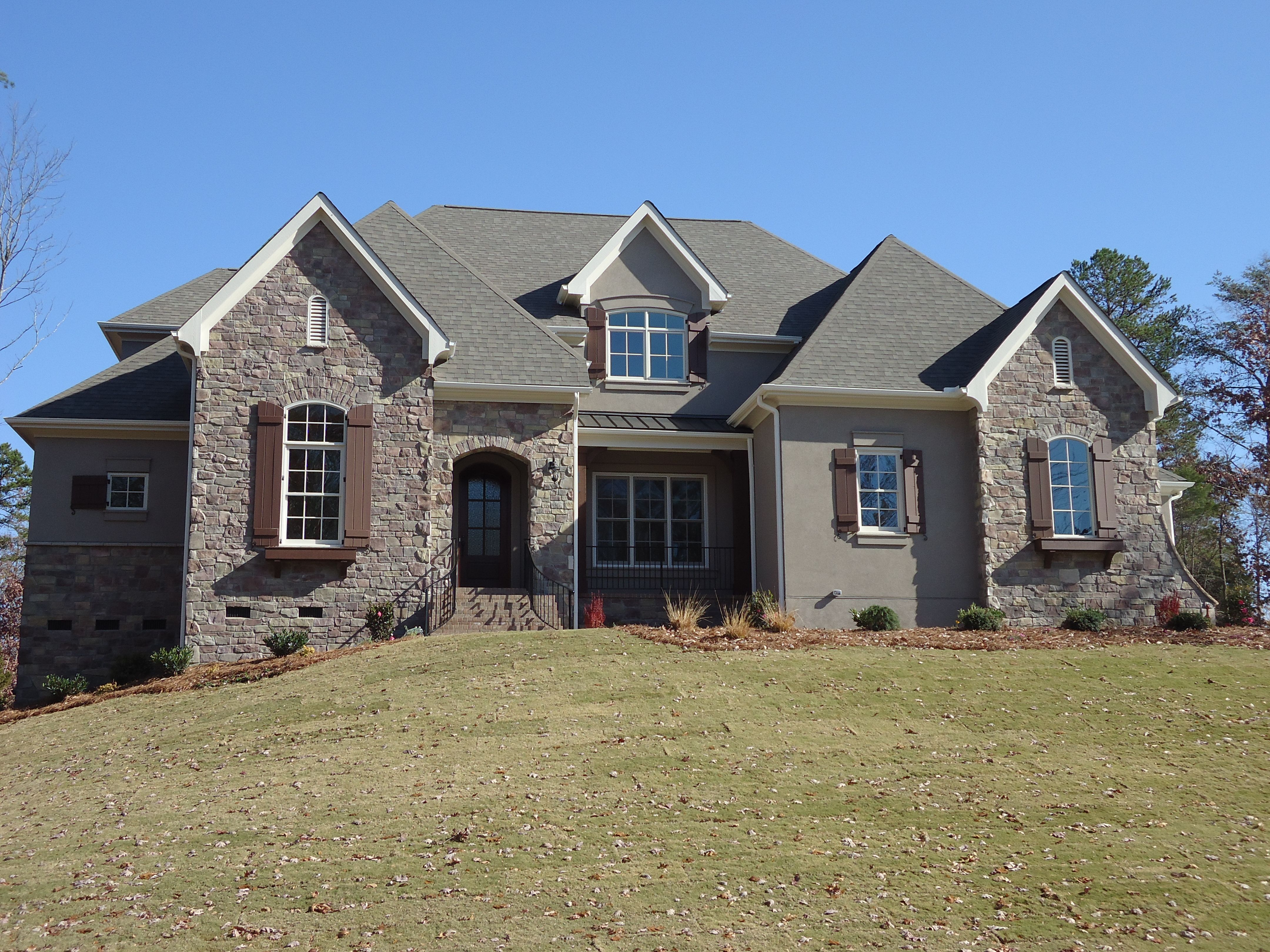 Elevations Stone Beige : Arh plan the willowbrook elevation b exterior roof