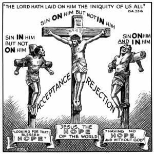Image result for the thief Jesus meet on the cross