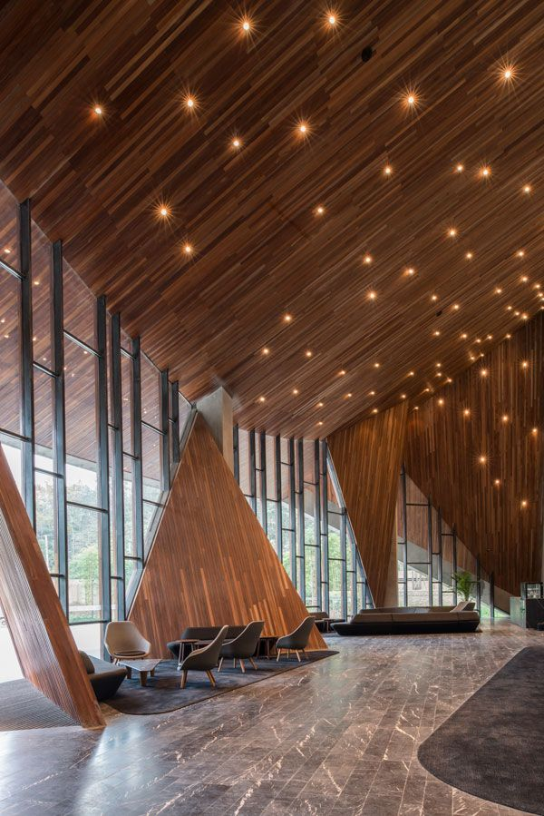 Ruff well water resort aim architecture interiors for Reception design hotel
