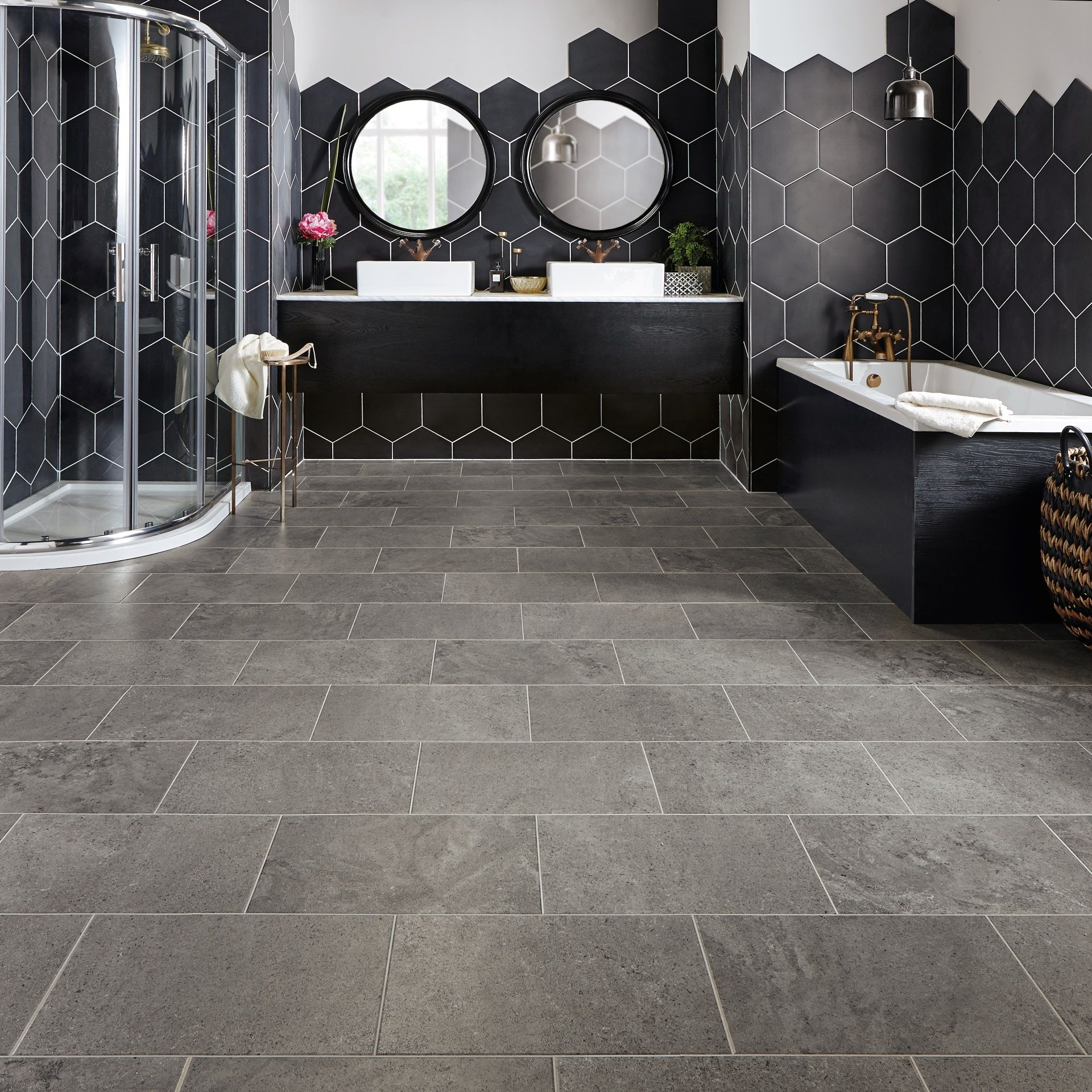 Karndean Da Vinci Cer17 Drift Vinyl Flooring Bathroom Vinyl