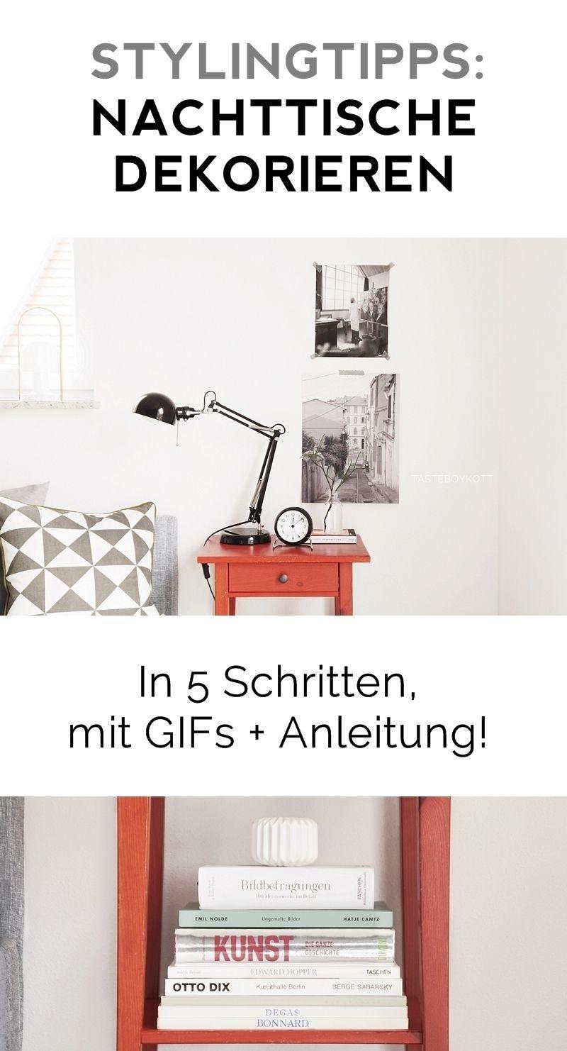 How To   Stylingtipps: Nachttisch Dekorieren Anleitung Und Ideen, Sammlung  Der Schönsten Nachttische,