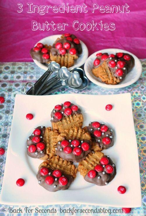3 Ingredient Peanut Butter Cookies {Gluten Free 3 Ingredient Peanut Butter Cookies {Gluten Free Gluten Free Recipes 3 ingredient gluten free peanut butter cookies