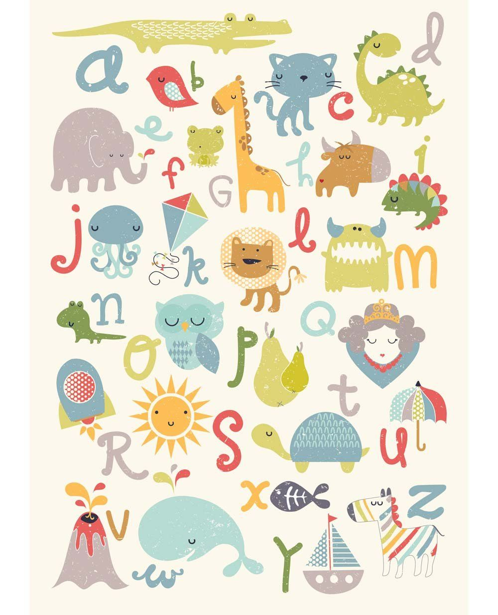 Alphabet poster giclee print by helloemmalewis on Etsy, £30.00 ...