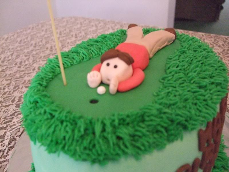 golfer blowing in hole cake Google Search Cake ideas