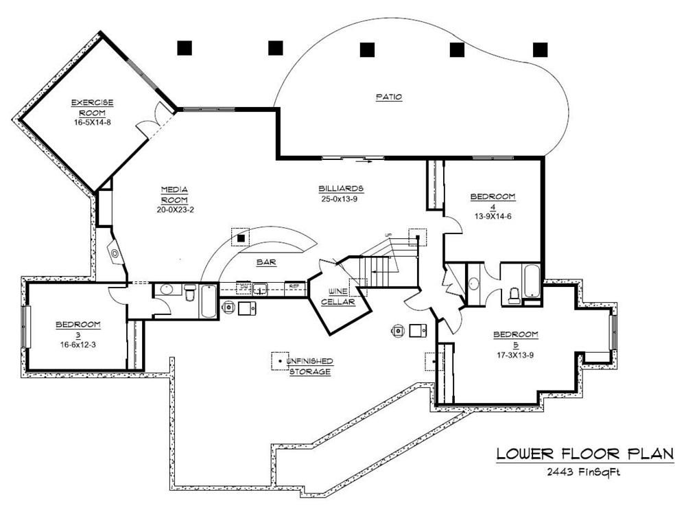 floor plans for large homes Floor Plan Basement for