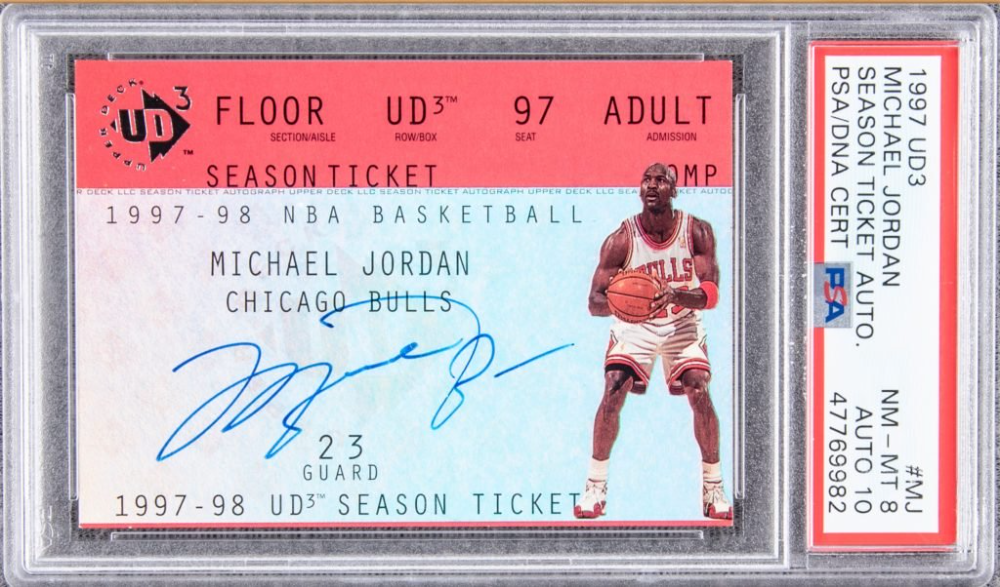 1997 Upper Deck Jordan Card Pulled From 3 99 Pack In 1997 Could Hit Six Figures Upper Deck Cards Shopping Card