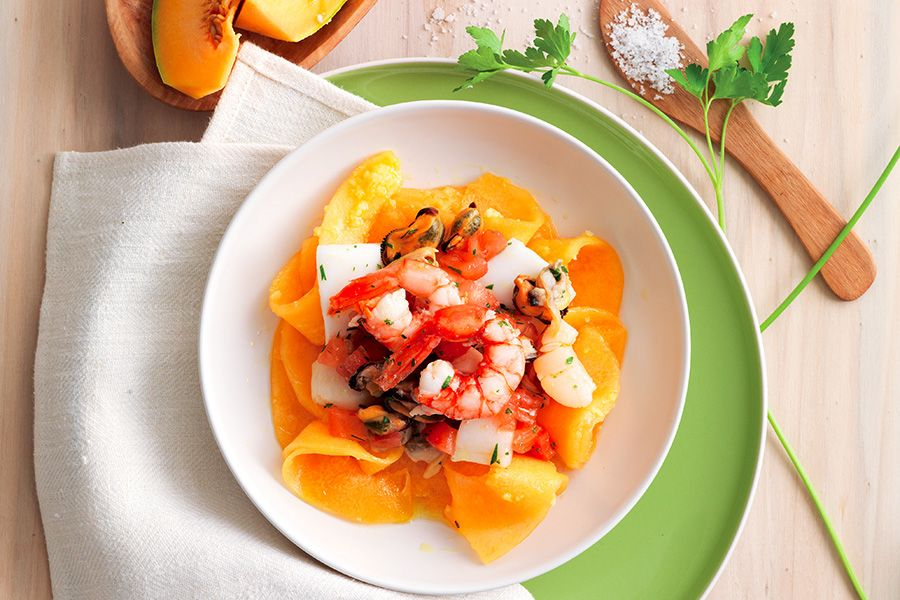 Melone allo zenzero con frutti di mare