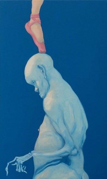Michael Kvium Ghost Balance Kunstnere Kunstvaerk Plakater