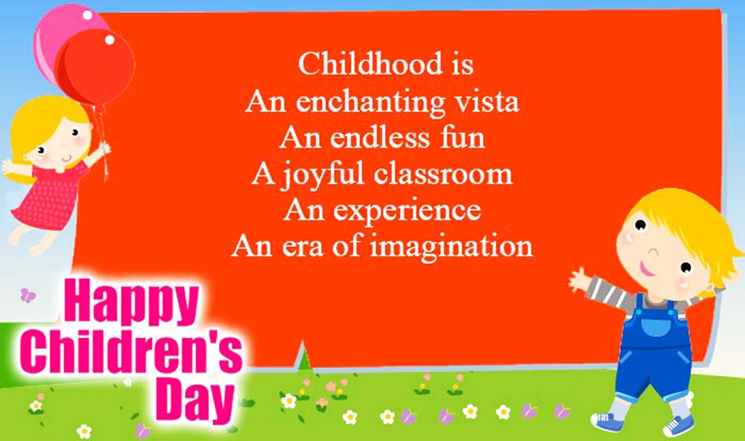 Happy Children's Day Quotes, Wishes and Small Thoughts